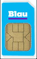 Blau-SIM-Karte